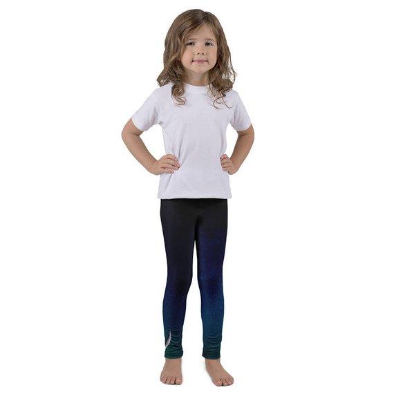 ccebf39c749eb7 Moon Phases Girls Yoga Leggings | Girls Yoga | Kids Yoga | Girls Leggings |  Kids
