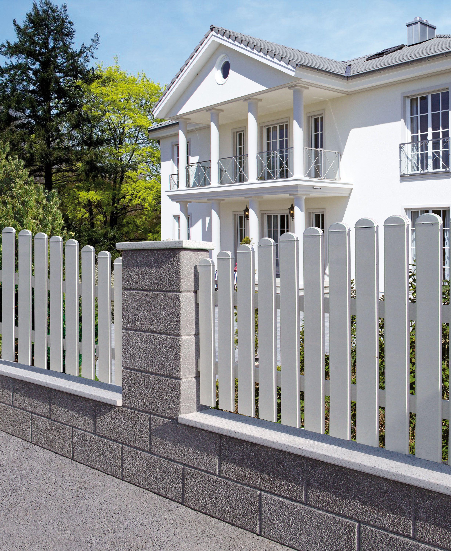 Bossen Zaunstein Von Hausler Sind Wertvoll Und Elegant In 5 Verschiedenen Farben Im Format 40 X 20 X 20 Cm Erhaltlich Modernes Zaun Design Zaun Gartenmauern