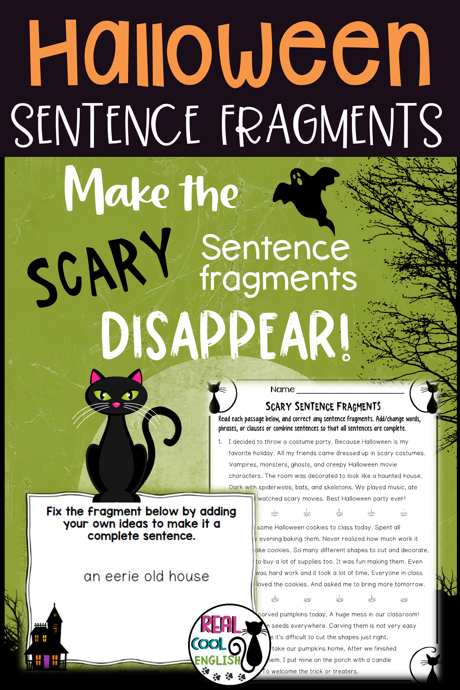 Halloween Sentence Fragments Practice