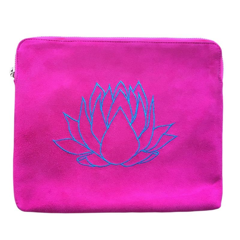 Lotus clutch in pink and teale | hardtofind.