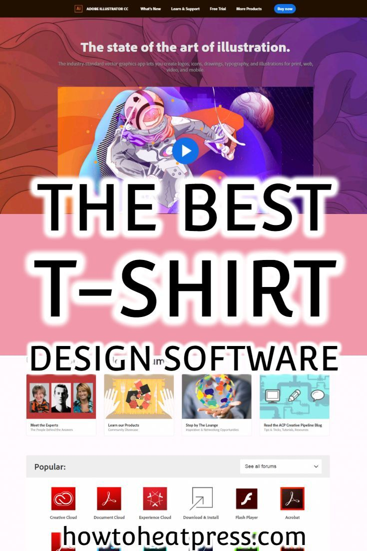 The Best T Shirt Design Software Adobe Illustrator Review T Shirt Design Software Best T Shirt Designs Cricut Heat Transfer Vinyl
