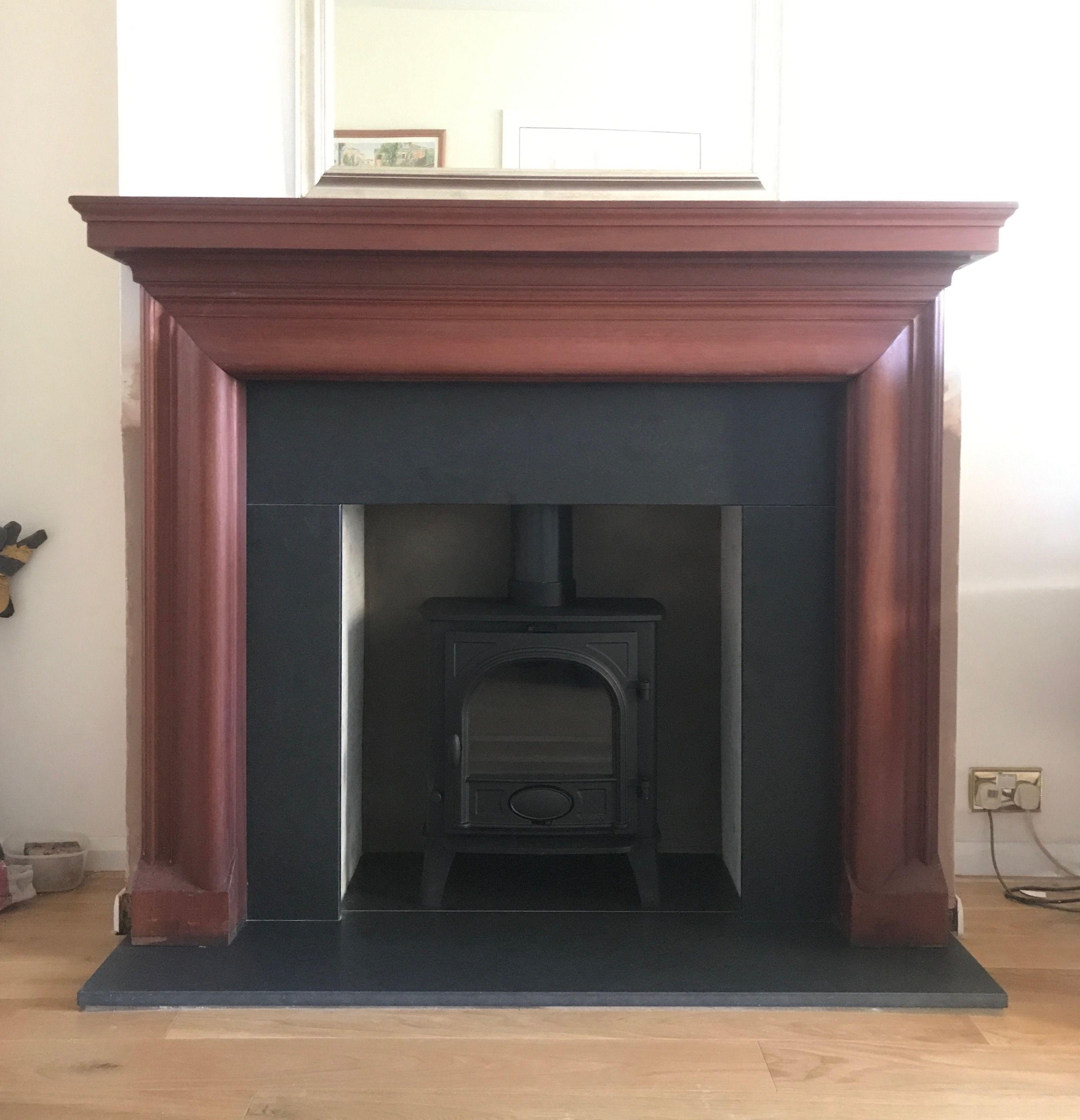 Wooden Fire Surround With Honed Granite Hearth And Slip Set Stovax Stockton 5 Multi Fuel Stove Wooden Fire Surrounds Multi Fuel Stove Granite Hearth