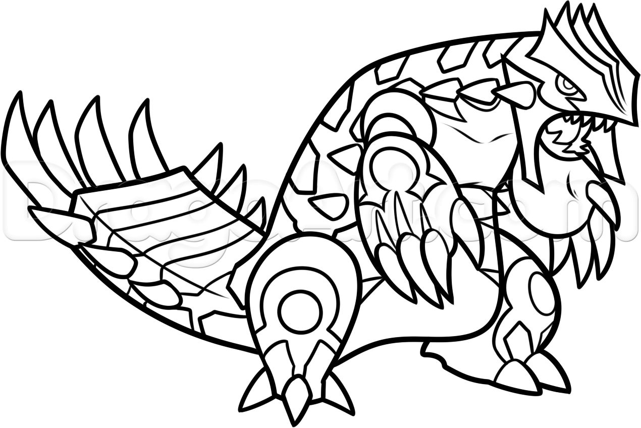 Pokemon Primal Groudon Coloring Pages Download