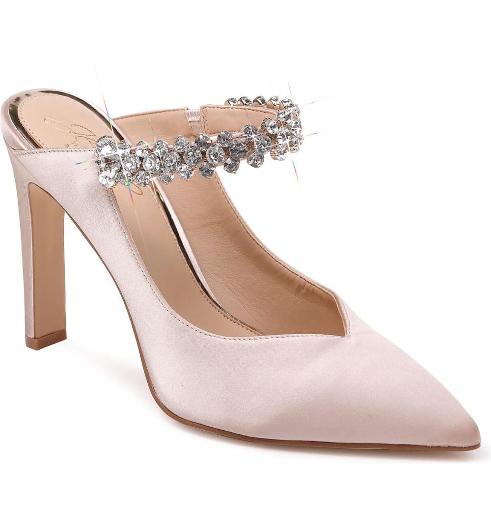 Jewel Badgley Mischka Stella Crystal Mule Pump Women Nordstrom Badgley Mischka Shoes Wedding Jewel Badgley Mischka Wedding Shoes
