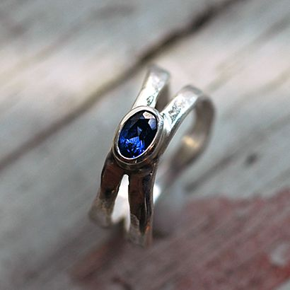 Tanzanite and Silver Ring.  Would like this with red.