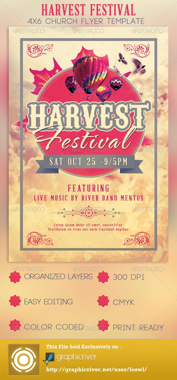 Harvest Festival Church Flyer Template Church Flyers Photoshop