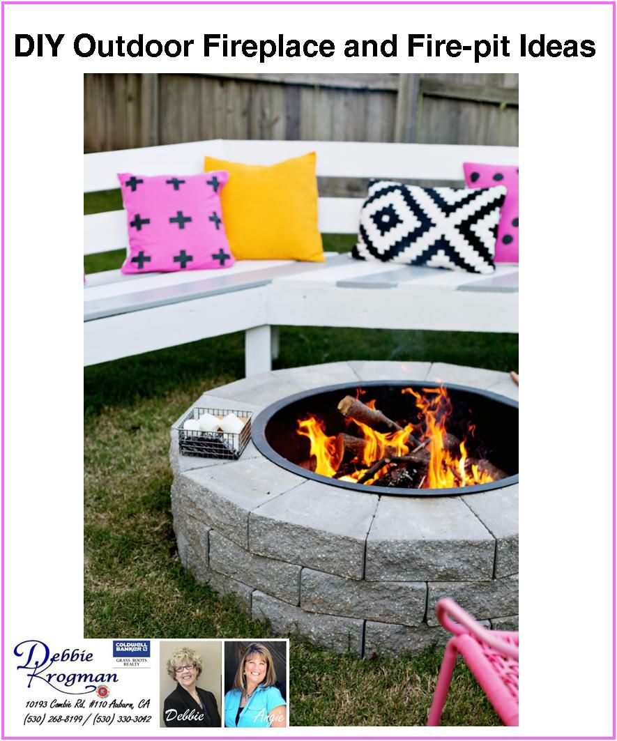 31 DIY Outdoor Fireplace And Firepit Ideas (With Images