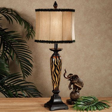 Something Wild Tiger Print Table Lamp   Love Lamp