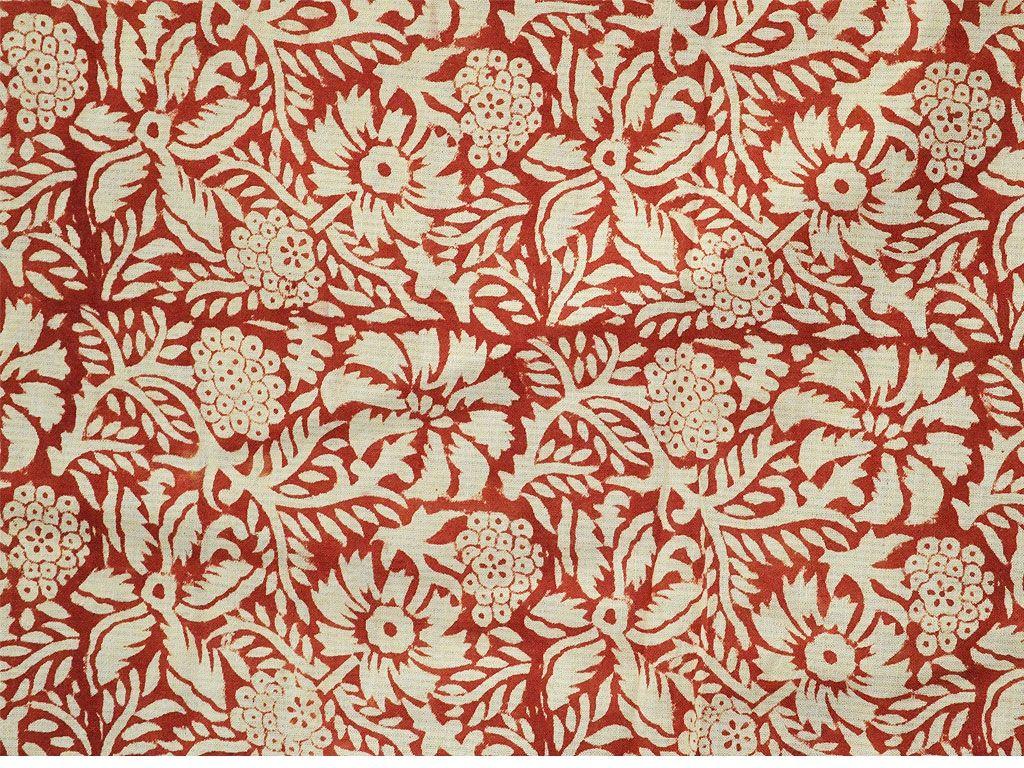 Rust Hand Block Print Block Print Fabric Indian Organic