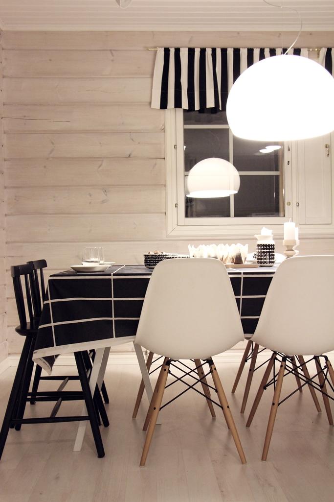 marimekko tiiliskivi kitchen diningroom vitra kartell scandinavian