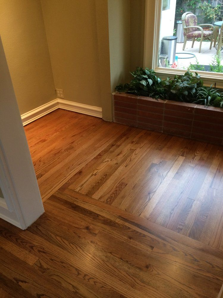 Famous Early American Stain On Red Oak |  red oak sand & refinish with  AD34