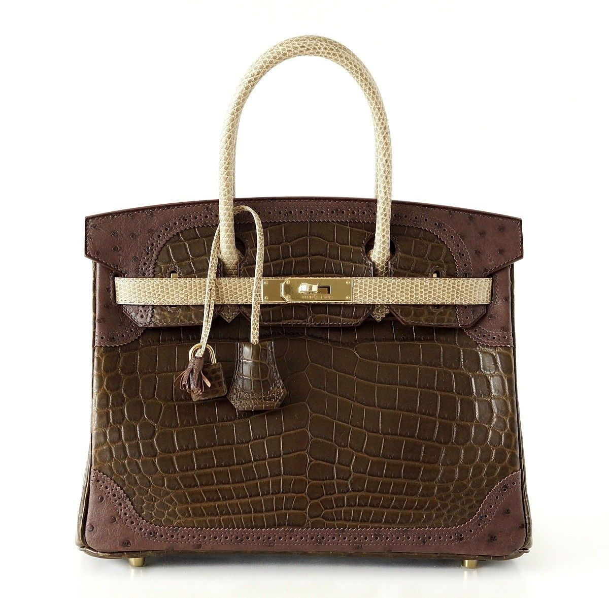 738588c359e8 Hermes Grand Marriage Matte Crocodile Ostrich & Lizard 30cm Birkin ...