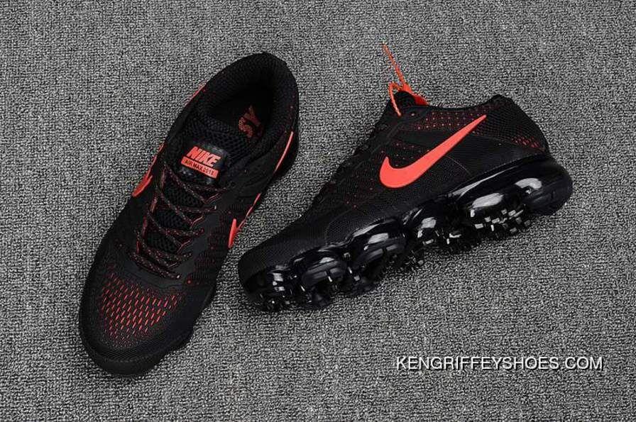 Cheap Nike Air Vapormax Flyknit Black University Red 2018