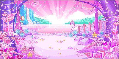 Kawaii pixel landscape