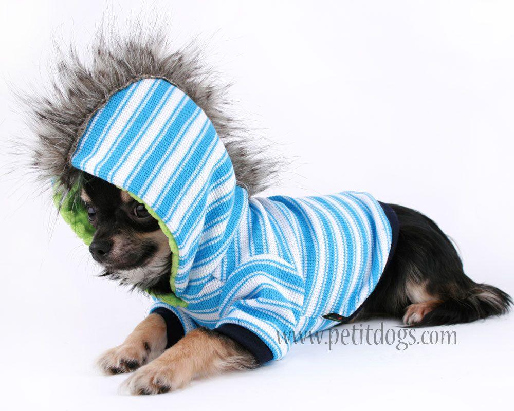 5fe16c5a00f4 Boy Dog clothes XS Mohawk Blue Stripe Punk Dog Hoodie | Chihuahuas ...