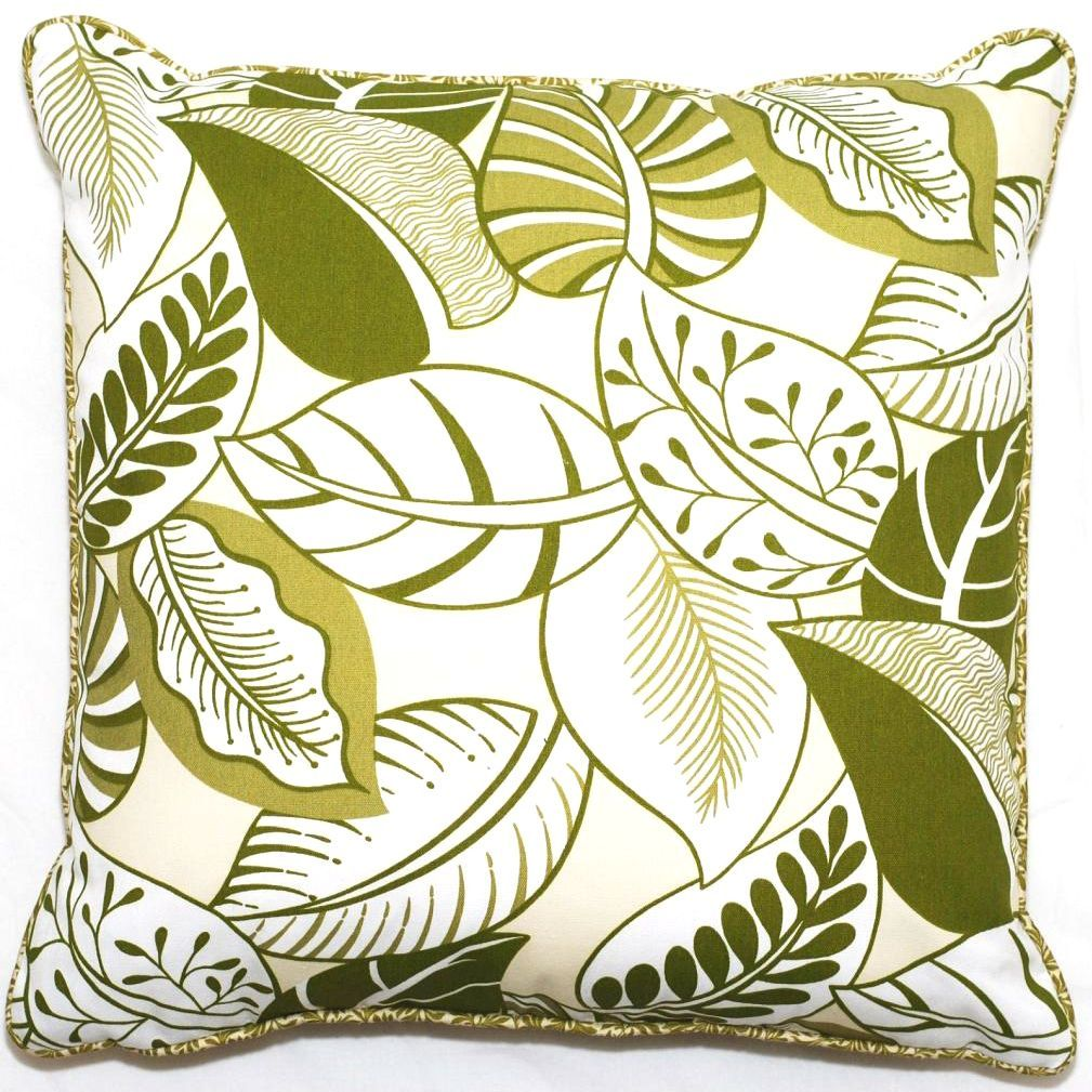 Corona decor green floral outdoor living inch throw pillow