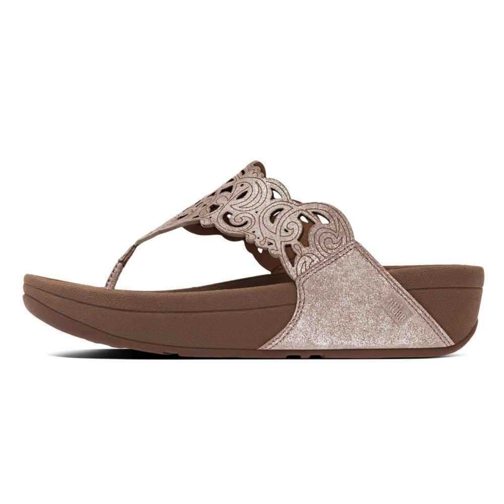 d7eb53136a448 FITFLOP FLORA PLATFORM WEDGE Sandal Slip On Thong Cut Out 7 38 Nude Shimmer  Sued  FitFlop  FlipFlops  Any