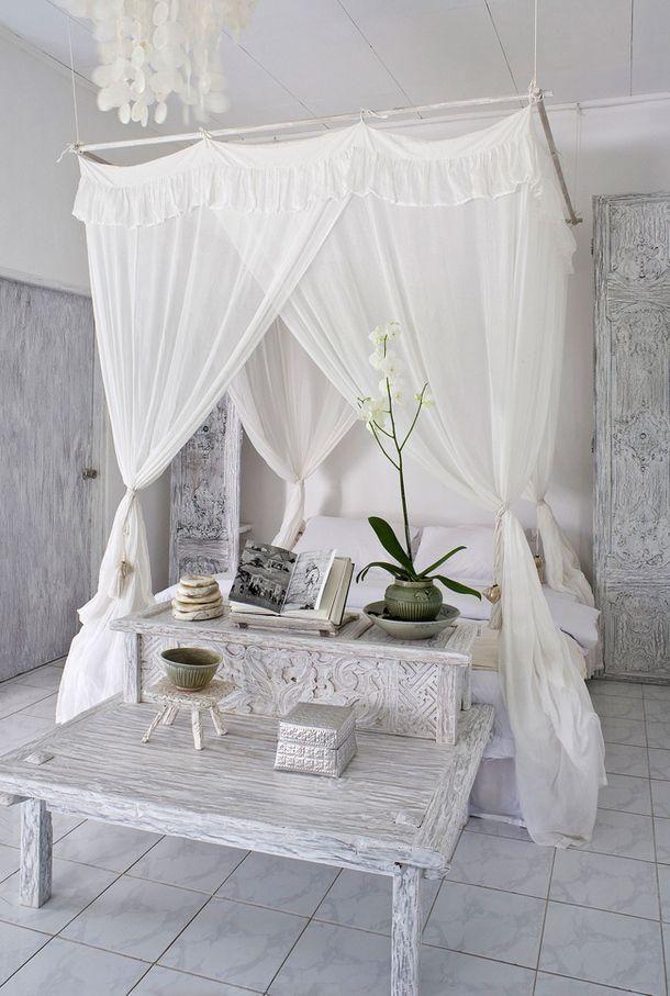 Decorando con tela de tul rec mara pinterest camas - Telas marroquies ...