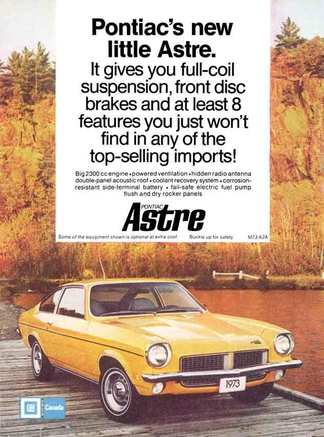 1973 Pontiac Astre Canadian Pontiac Chevrolet Vega Custom Cars