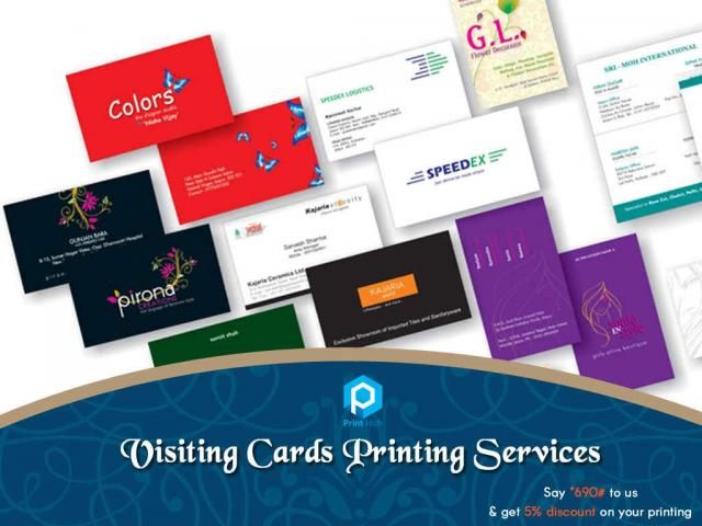 PrintHub Visiting Cards Printing Crisp and impressive visiting - visiting cards