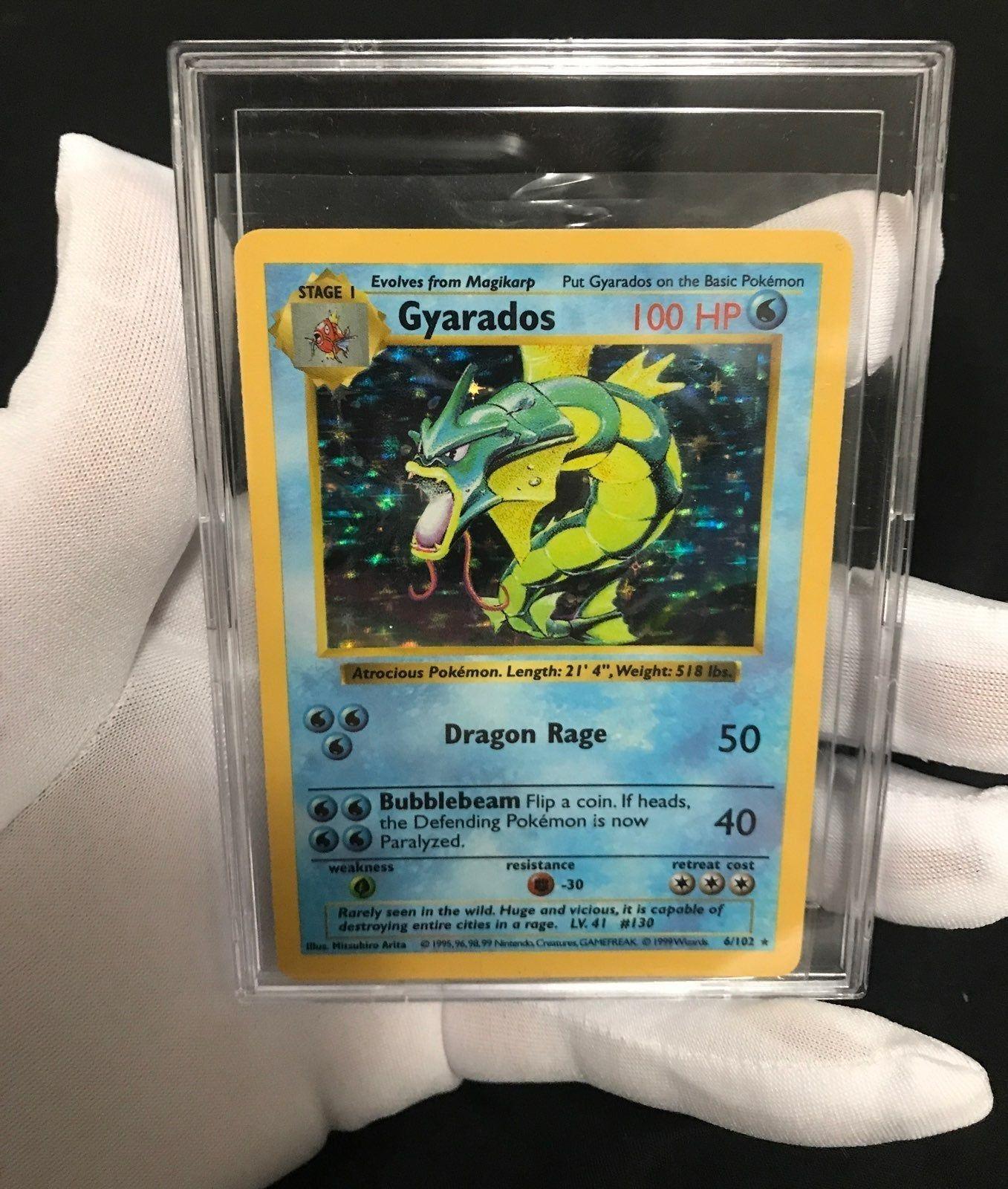 Shiny Mega Gyarados Sleeves 65 Near Mint Pokemon