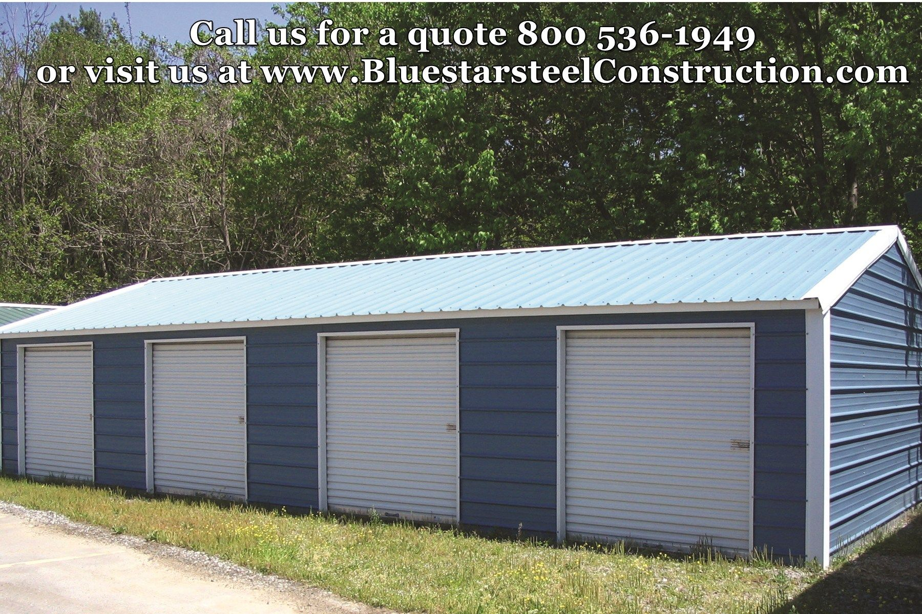 Metal building - 4 car garage - low cost steel garage - call 1-800 ...