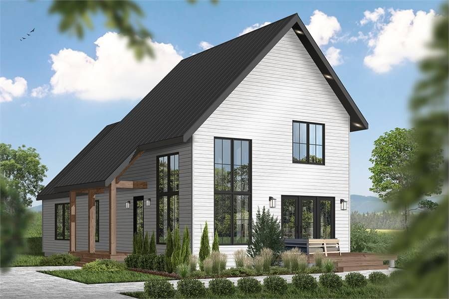 Small Home Plan Willowgate 2 4024 3 Bedrooms And 2 Baths The House Designers Modern Cottage Cottage House Plans Cottage Plan