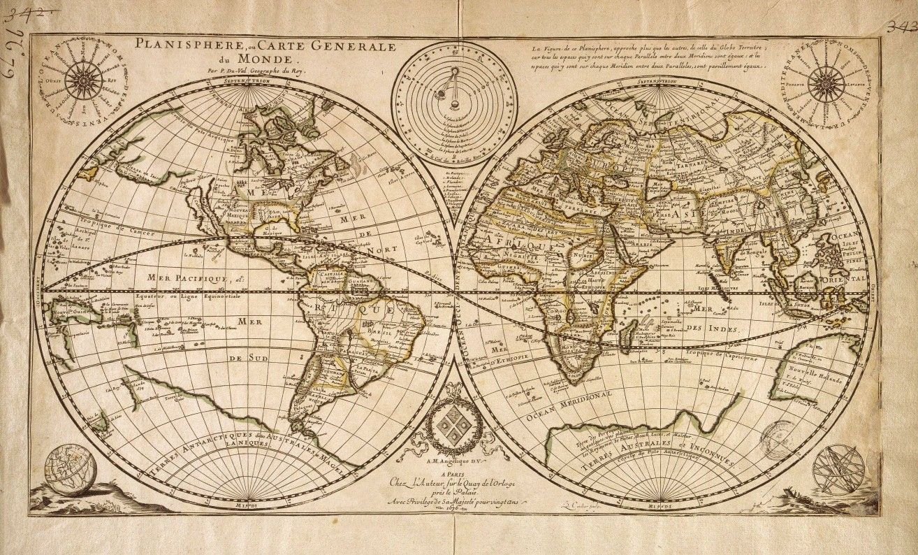 Pin by mary thompson on maps pinterest vintage world map printed fabric panel make a cushion upholstery craft gumiabroncs Gallery