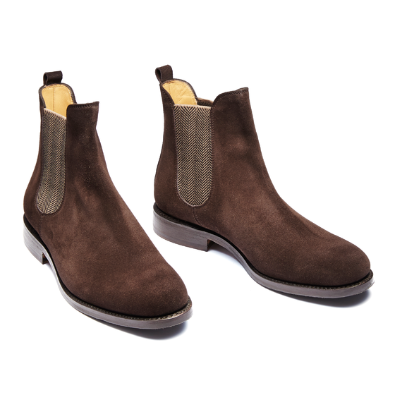 CHELSEA BOOT VELOURS MARRON CHEVRONSClothes ELASTIQUE 6vY7fbgy
