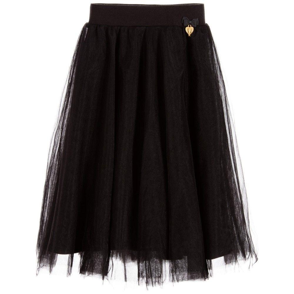 Angelus face girls long black tulle skirt bebek kıyafetlerivv