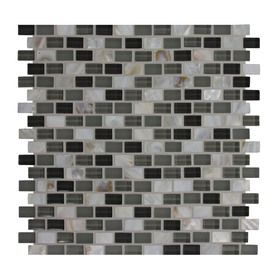 Gbi Tile Amp Stone Inc 12 In X 12 In Shell Glass Mosaic