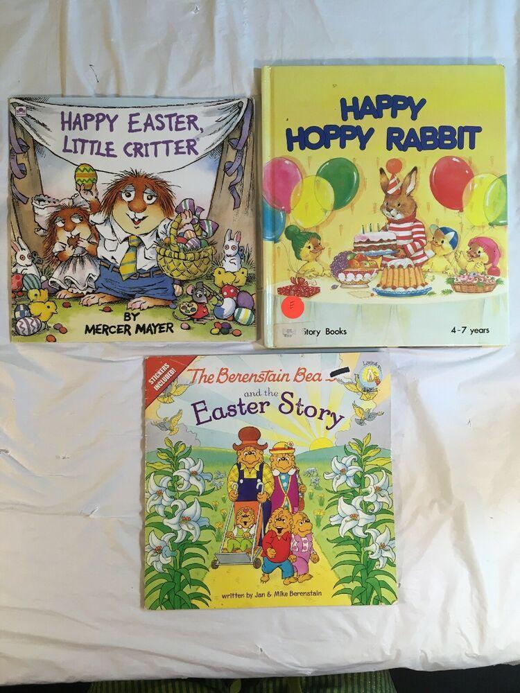 Easter book lot of 3 happy easter little critter hoppy