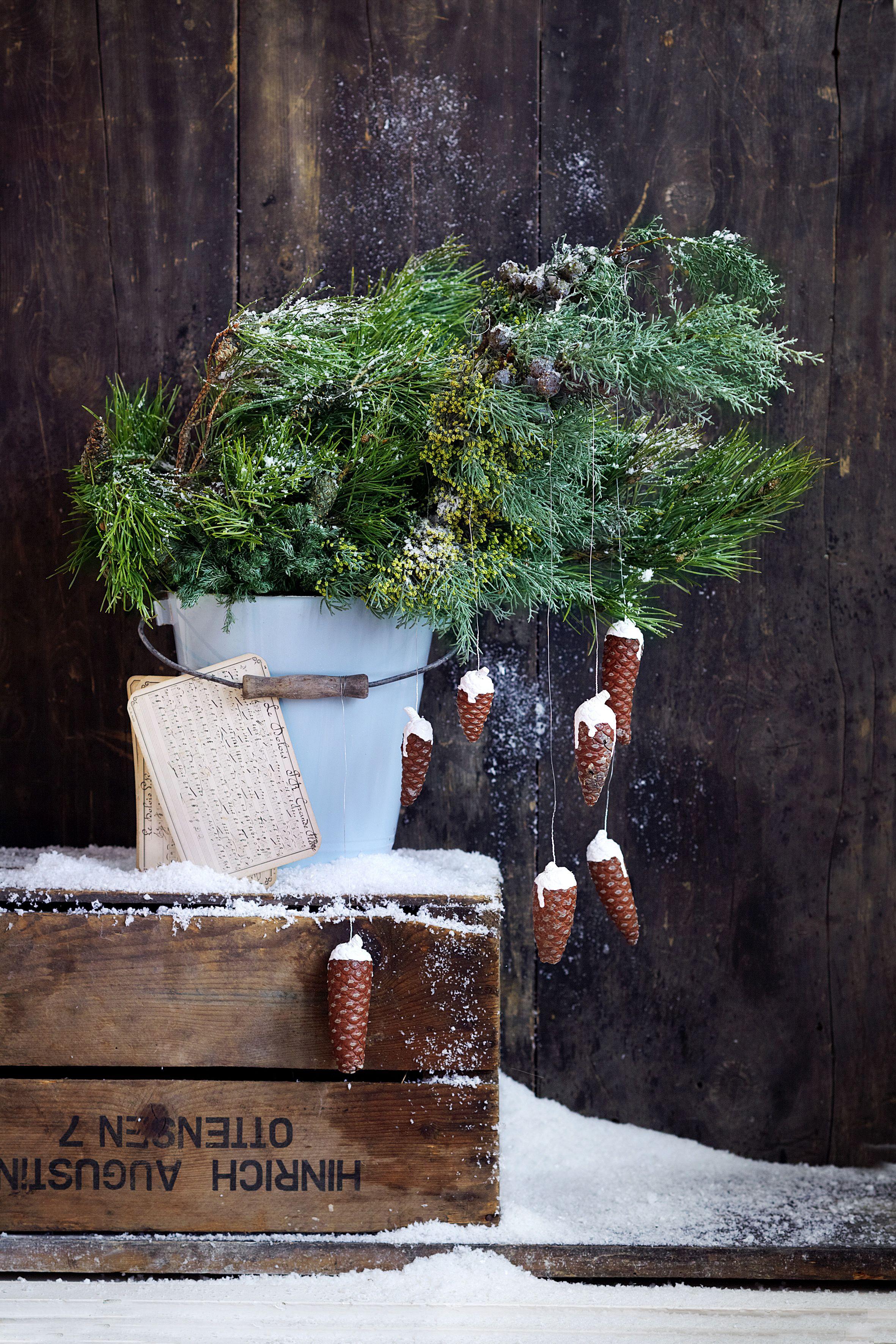 Weihnachtsdeko: Last-Minute-Ideen für den Garten #rustikaleweihnachtentischdeko