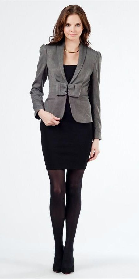 Black Dress Textured Colored Blazer Or Suit Jacket Work It