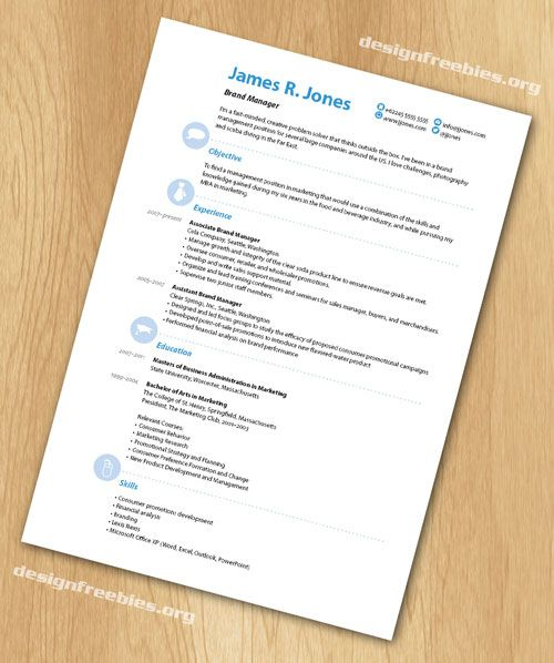 free indesign resume cv template 3