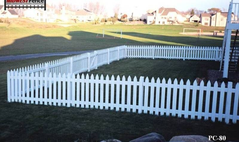 A White Finish Is Give To This Colonial Cedar Rail Picket Fence Gate