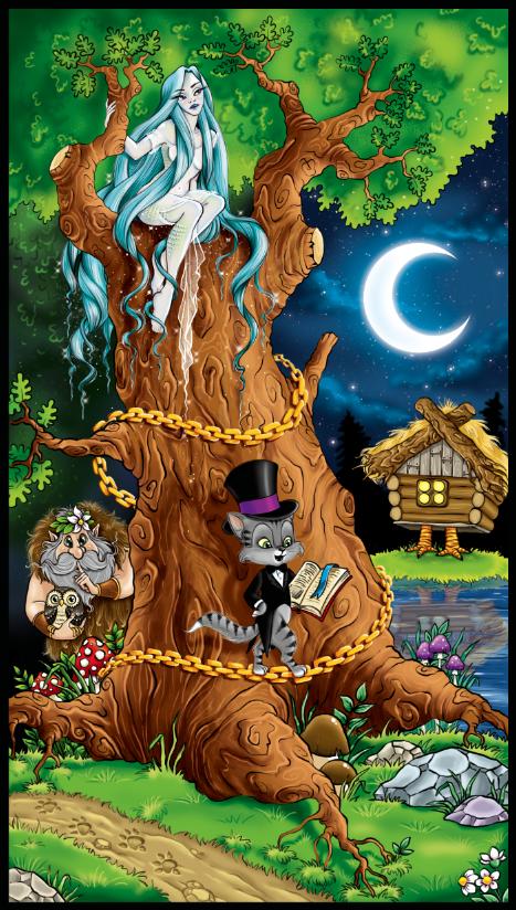 Просмотреть иллюстрацию У лукоморья дуб зеленый из ...