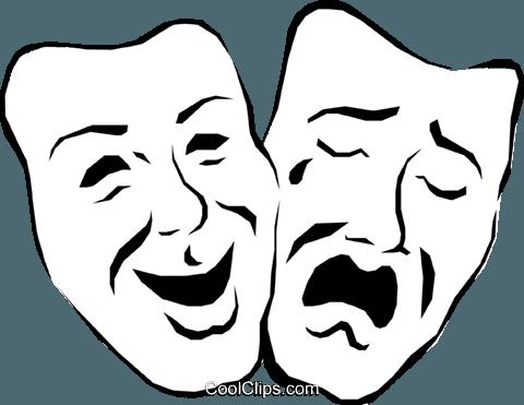 Teatro De Mascaras Libres De Derechos Ilustraciones De Vectores Clipart Arts0133 Mascaras Teatrales Dibujo De La Cara Dos Caras