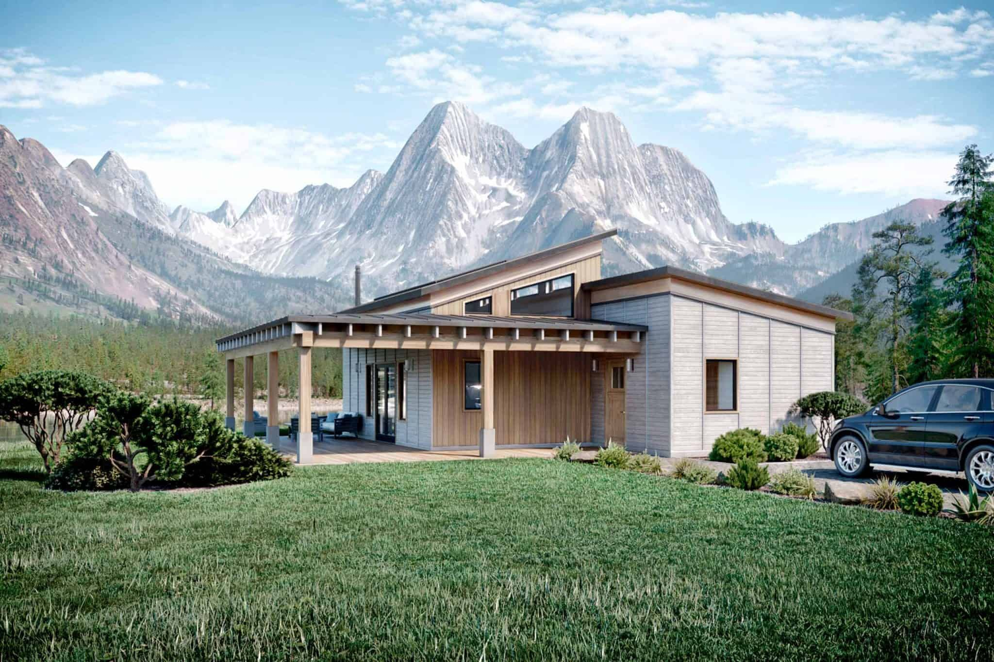 Truoba Mini 419 In 2020 Modern Style House Plans House Plans House Layouts