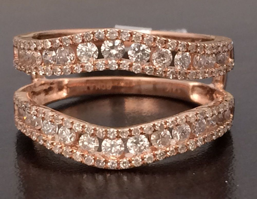 Solitaire Enhancer Round 1.00ct Diamonds Ring Guard Wrap