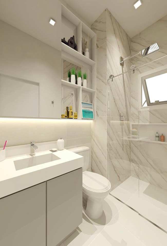 Para quem deseja um banheiro clean e moderno decora o - Piso pequeno moderno ...