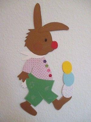 Fensterbild*Tonkarton*Hase Ludwig *XXL* Frühling*Ostern*Deko*Kinder ...
