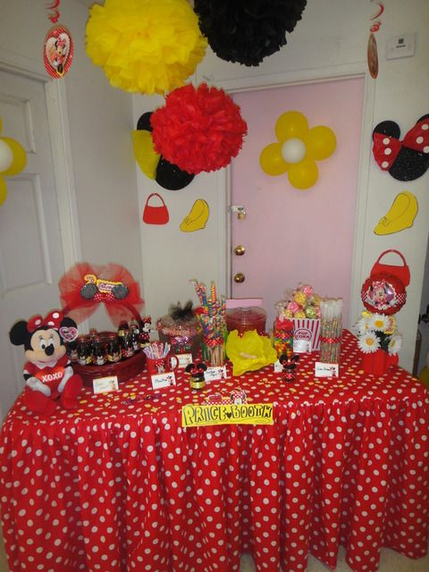Minnie Mouse Party Supplies Red And Black Minnie Mouse Red