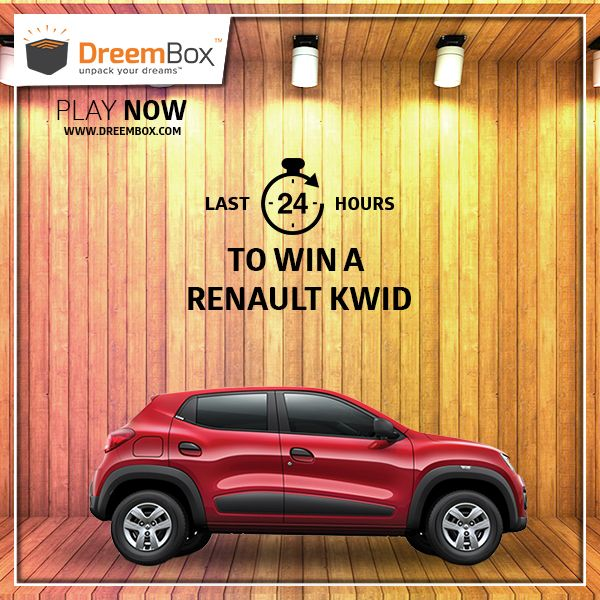 Deadlines Closing for you to win your dream car. Hurry !!!! Visit www.dreembox.com, register yourself and bid to win Renault Kwid at amazingly low prices. Dreembox - India's No.1 Auction site for New Cars, Bikes & Holidays. ‪#‎contest‬ ‪#‎win‬ ‪#‎winner‬ ‪#‎car‬ ‪#‎traveldiaries‬ ‪#‎bid‬ ‪#‎auction‬ ‪#‎kwid‬ ‪#‎dreembox‬ ‪#‎amazing‬