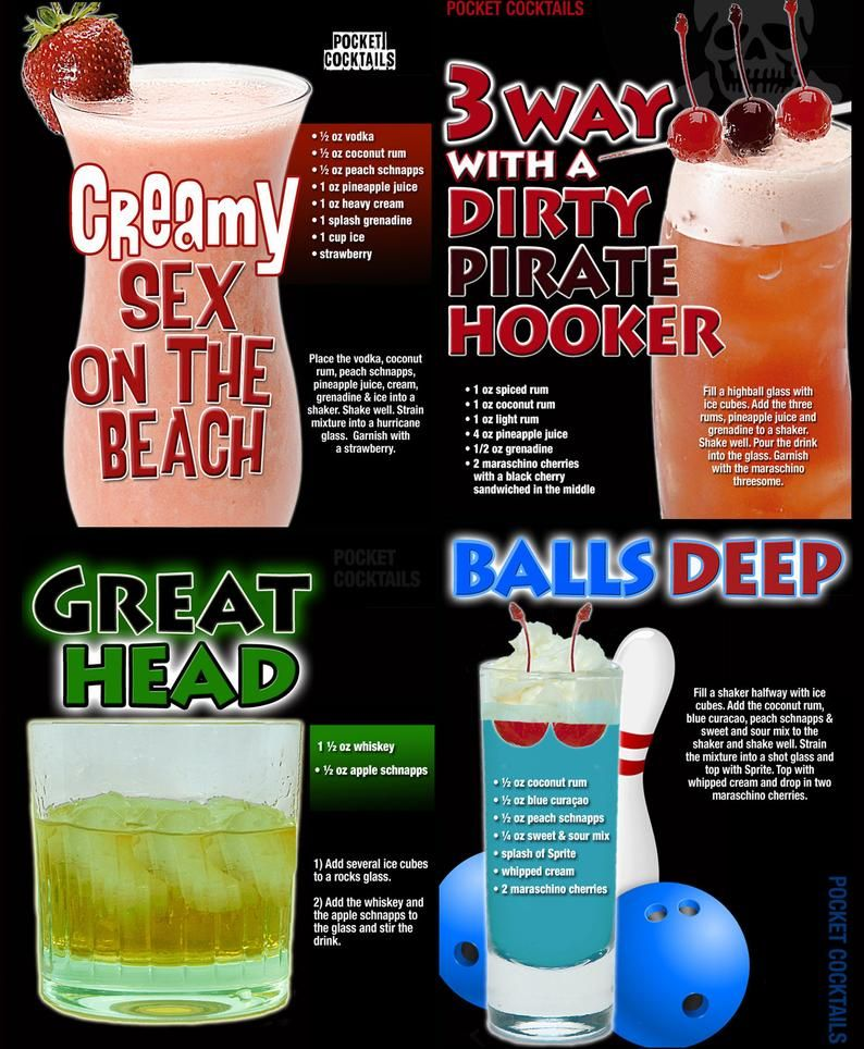 XXX Cocktails Poster - Customizable