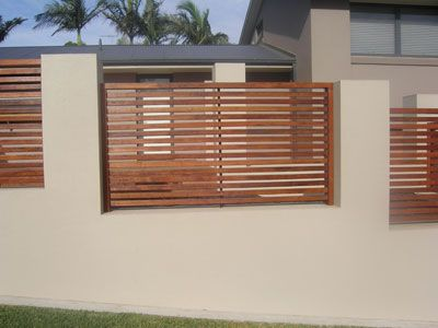 Fence Panels In Rendered Wall For Our Front Garden But With More
