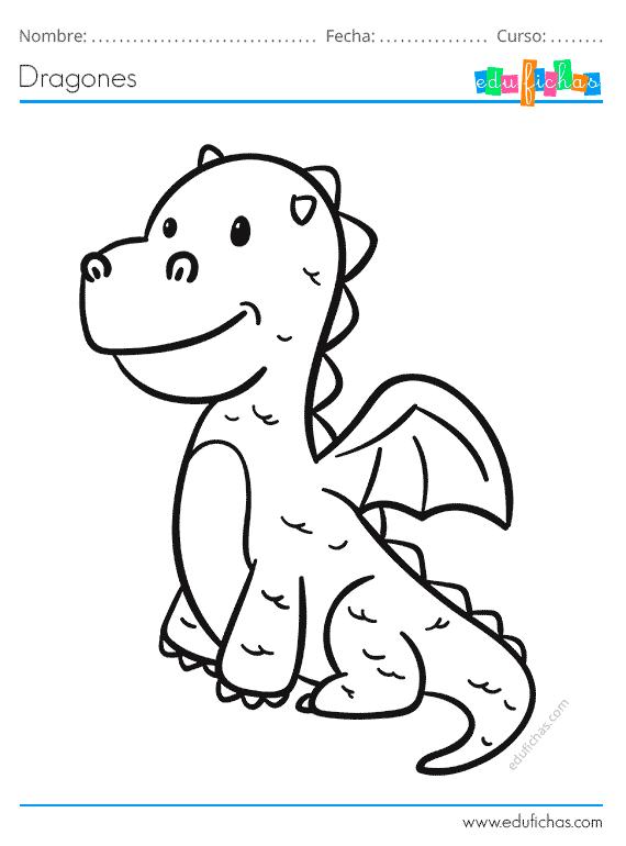 Hoy Hemos Preparado Unos Dibujos De Dragones Para Que Los Ninos Los Puedan Colorear Un Dragon Es Un Animal Mi Dragones Para Colorear Dibujo De Dragon Dragones