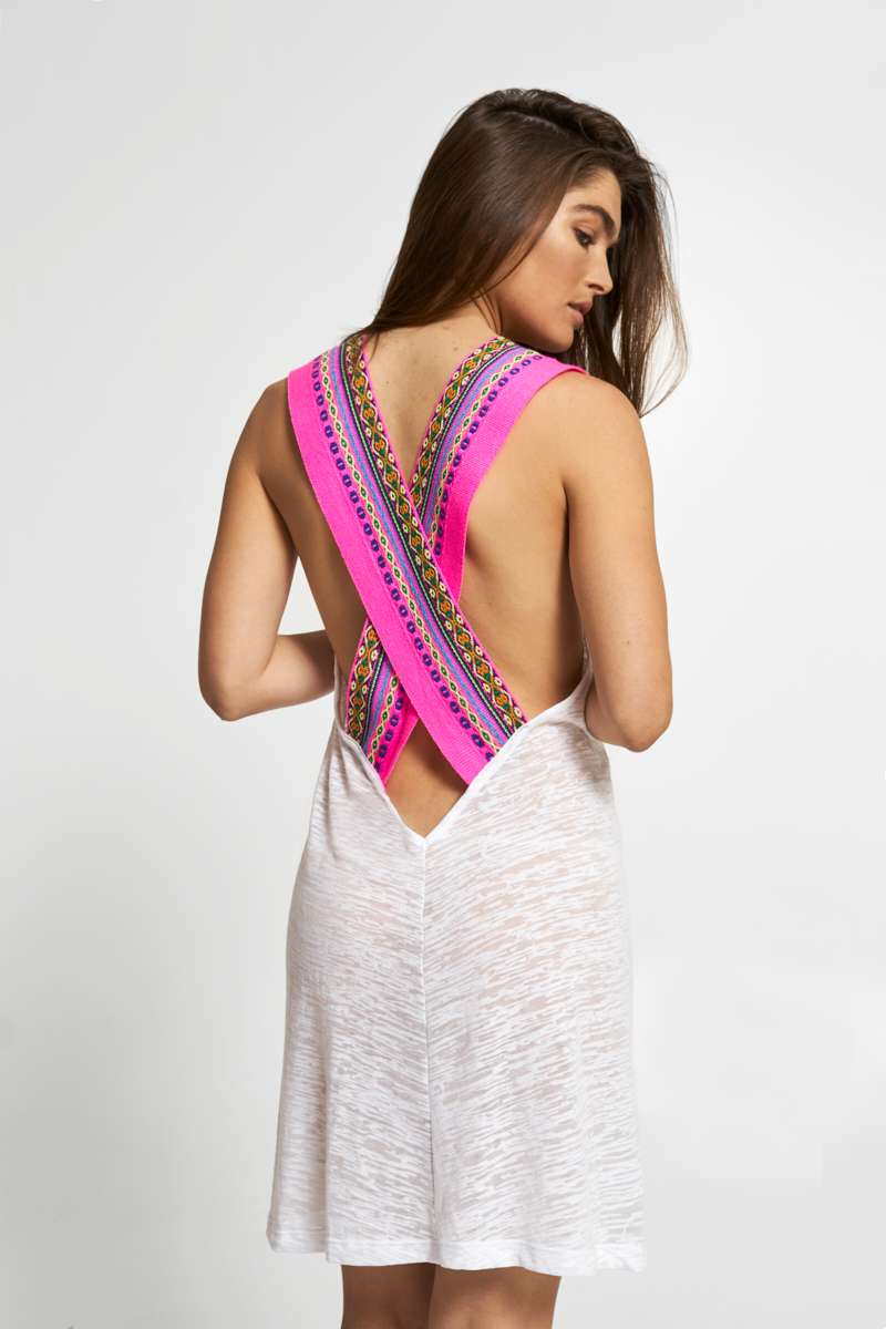 A Little Mini Dress With A Whole Lotta Back This Mini Sundress Features Our Thick Inca Detailing On The Back Made Of Our Soft Burnout Dress Backs Mini Sundress