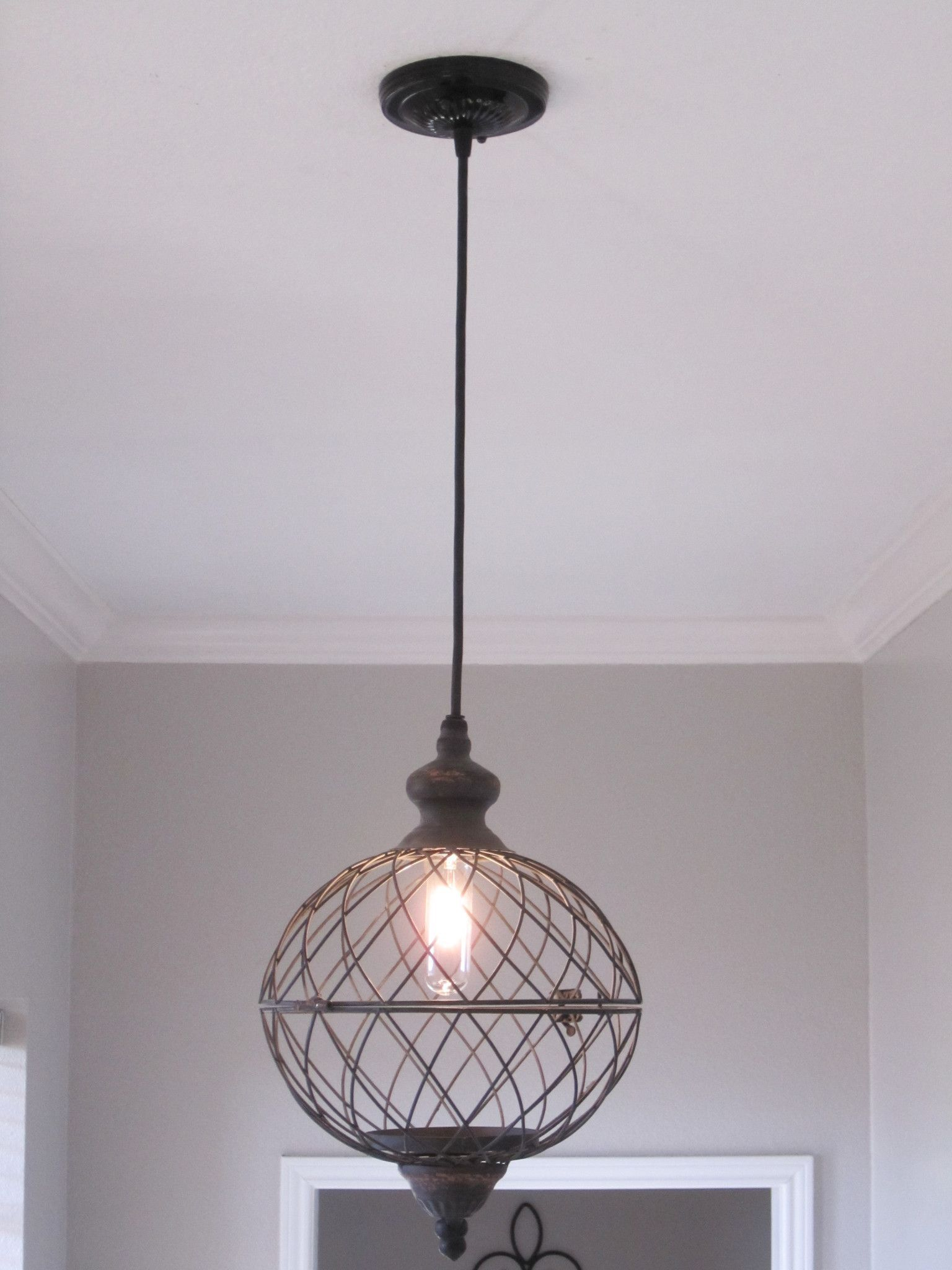 Wire Medium Metal Globe Pendant Light | Pinterest | Globe pendant ...