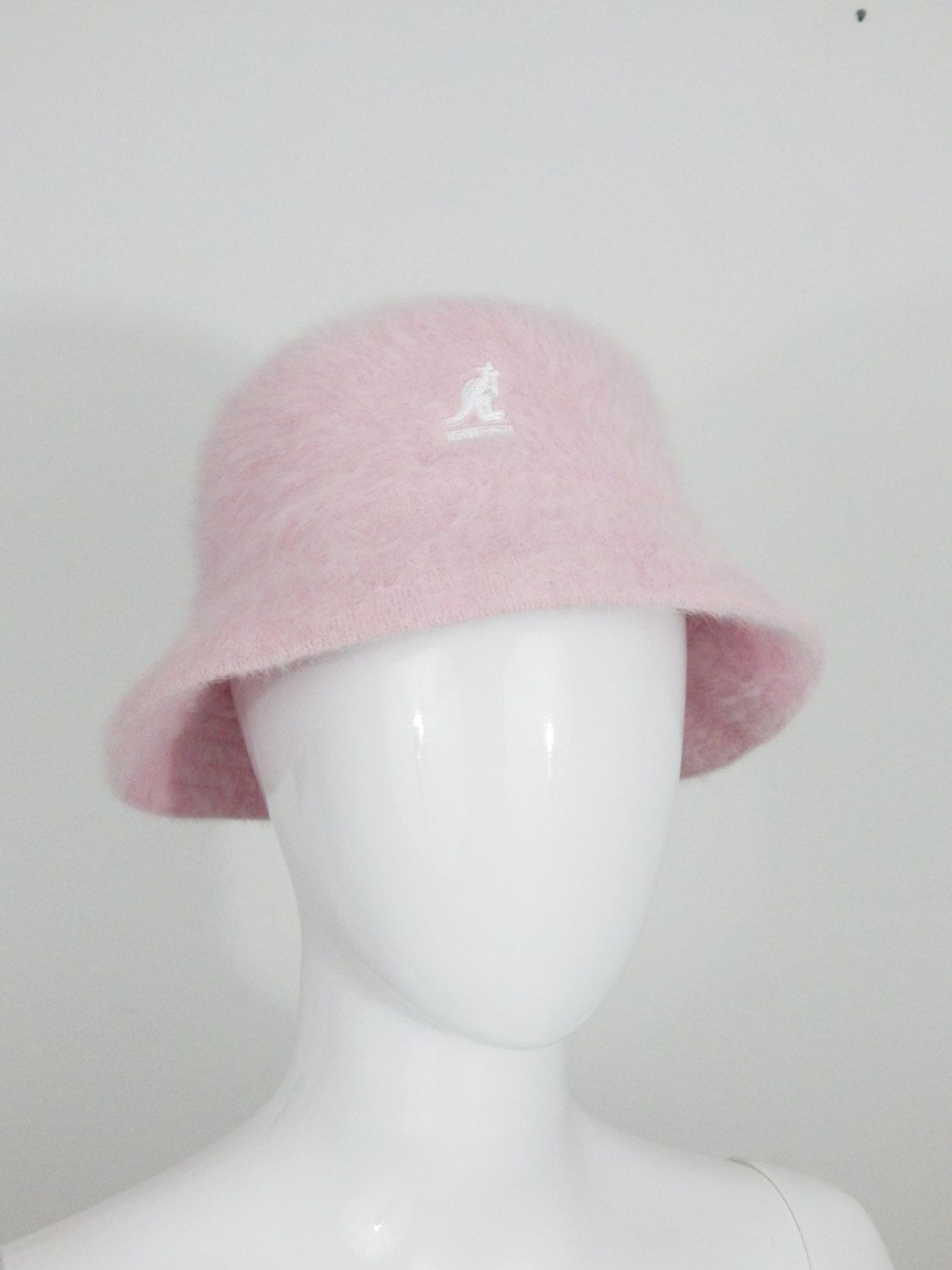 520bb8fabd7 Pink furry KANGOL Furgora Lahinch90s vintage bucket hat size Medium bucket  hat men women unisex by GLITTERSTREET on Etsy